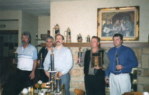 Top Five Shooters in the League - Art Peterson, Kelly Skiles, Mike Prailes, Kirk Wagner, Phil Bourdo
